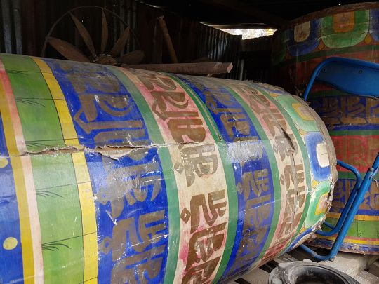 Five prayer wheels will be restored and installed in the new park.