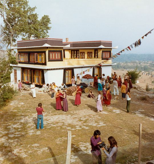 Group photo from the fourth meditation course held at Kopan Monastery, Nepal, 1973. Photo by Christine Lopez.