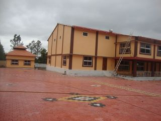 The completed community hall at Rabagayling Tibetan Settlement in South India.