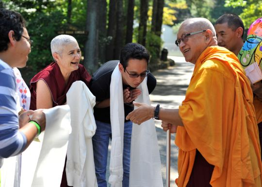 Light of the Path retreat, Black Mountain, North Carolina, US, August 2016. Photo by Ven. Lobsang Sherab.