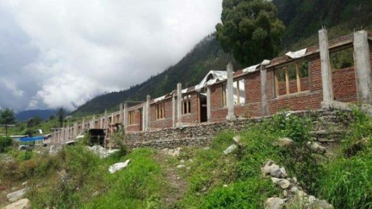 The nuns rooms at Tashi Chime Gatsal Nunnery had to be completely rebuilt following earthquake destruction.