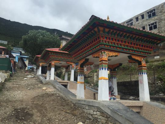 Each of the five prayer wheels will live in these beautiful painted houses. The prayer wheels will turn from downward flowing water, blessing all the water with mantras as it passes.