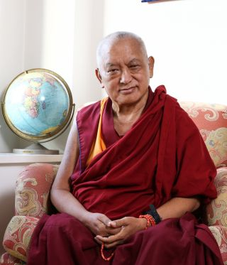 Lama Zopa Rinpoche. Photo by Edward Sczudlo.