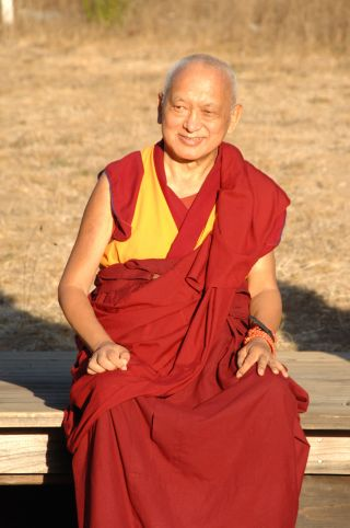 Lama Zopa Rinpoche, Land of Medicine Buddha, Soquel, California, US, October 2015. Photo by Bob Cayton.