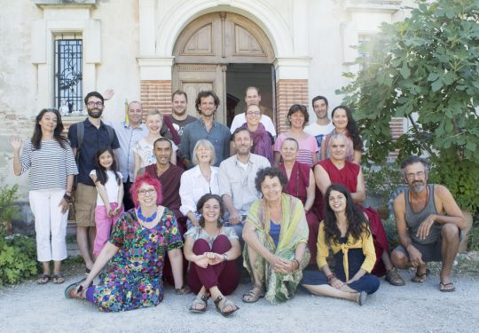 Participants and facilitators of the recent Foundation Service Seminar hosted by Institut Vajra Yogini, France, August 2016