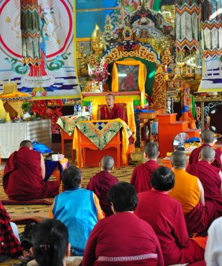 Ven. Tenzin Choidan taught on the four noble truths on Chokhor Duchen, Ulaanbaatar, August 2016