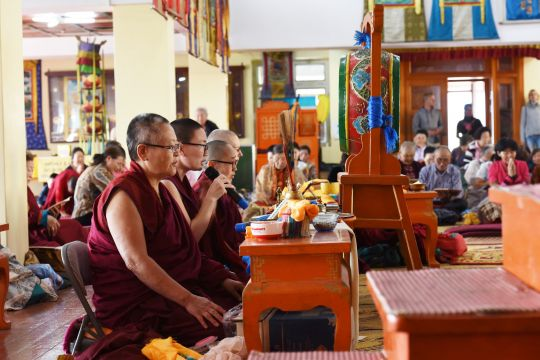 Many Sangha were in attendance during the retreat, Ulaanbaatar, Mongolia, August 2016