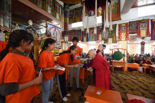 Volunteers during the retreat received gifts of thanks, Ulaanbaatar, Mongolia, August 2016