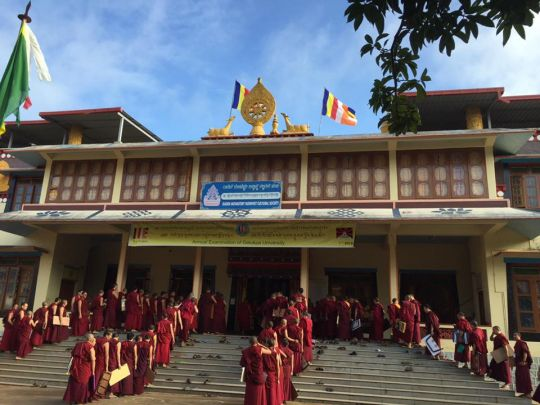 714 monks participated in this year's Gelug exam.