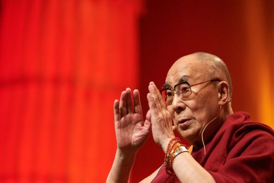 His Holiness the Dalai Lama  teaching in Strasbourg, France, September 2016.  Photo by Olivier Adam.