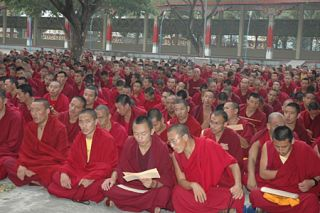 Group practice is far more powerful than individual practice. 15,650 Sangha participate in the Lhabab Duchen offerings.