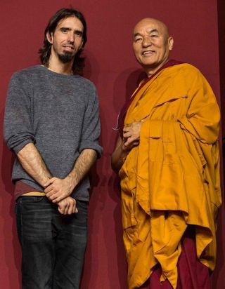 Osel with Ven. Thupten Wangchen, director of Tibet House in Barcelona, Italy. Paolo Regis Photography.