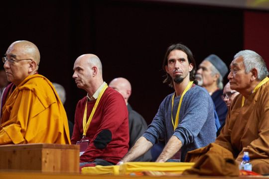 Osel attending His Holiness the Dalai Lama's teachings in Milan, October 22, 2016. Photo by Olivier Adam.
