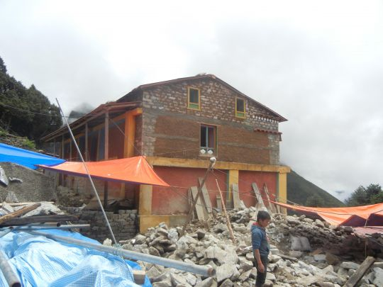 Repairs and improvements are needed and underway at Lawudo Retreat Centre, Nepal.