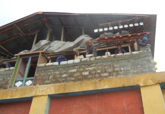 Lawudo's old gompa was severely damaged in the April 2015 earthquake.