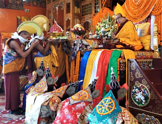 Annual Long Life Puja for Lama Zopa Rinpoche on December 17, Kopan Monastery