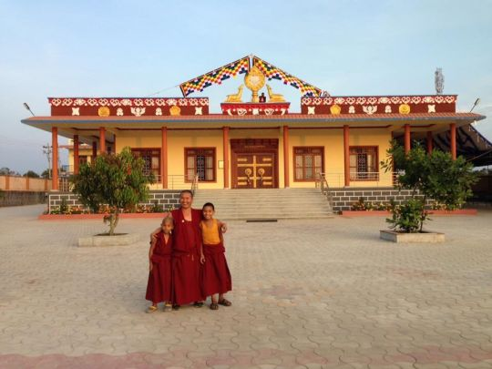 Ngari Khangtsen's new temple which was recently finished thanks to sponsorship from the Supporting Ordained Sangha Fund.