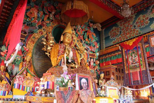 Statue of Lama Tsongkhapa at Kopan Monastery. Photo by Tom Truty.