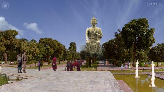 Composite of Maitreya Buddha Project Kushinagar by Aros