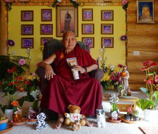 Lama Zopa Rinpoche and friends send you warm season's greetings! Washington State, USA, November 2016. Photo by Ven. Losang Sherab.