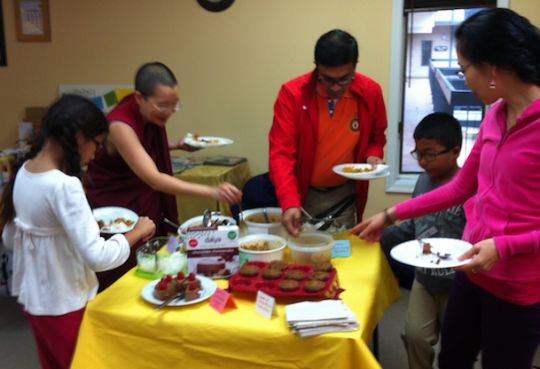 A healthy meal as part of World Vegetarian Day, Guhysamaja Center, Fairfax, Virginia, US, October 2016. Photo courtesy of Guhyasamaja Center.