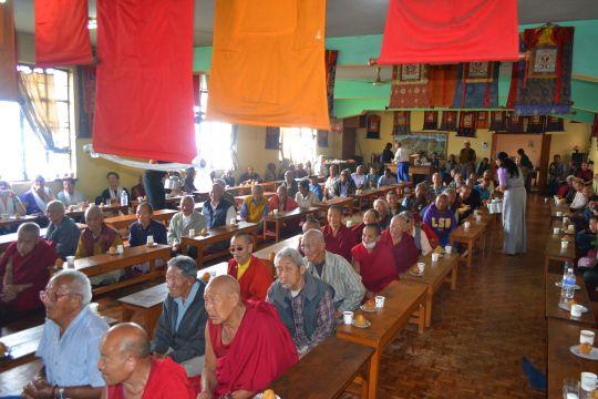 Residents include fourteen elderly nuns and sixteen elderly monks.