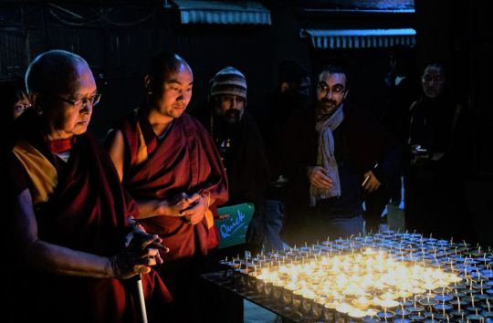 Lama Zopa Rinpoche, Boudhanath Stupa, Nepal, December, 2016. Photo by Ven. Losang  Sherab.