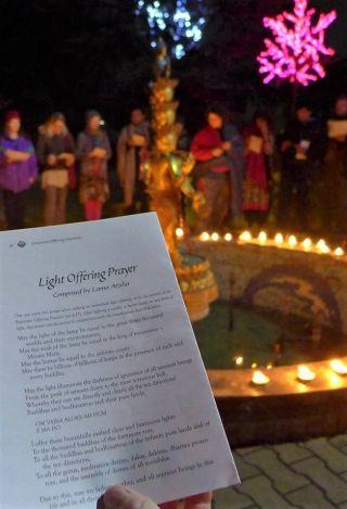 Offering lights at Kopan Monastery, November, 2016. Photo by Laura Miller.