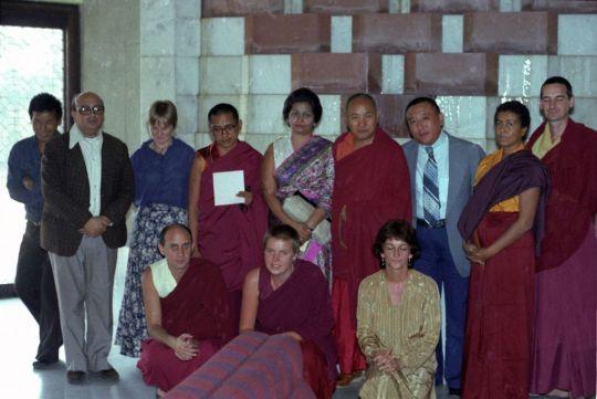 At Tushita's First Dharma Celebration. Photo courtesy of Lama Yeshe Wisdom Archive.