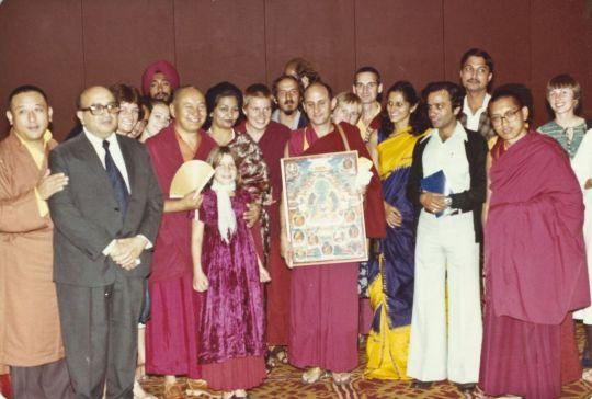 At Tushita's Second Dharma Celebration. Photo courtesy of Lama Yeshe Wisdom Archive.