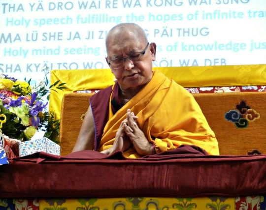 Lama Zopa Rinpoche at Light of the Path