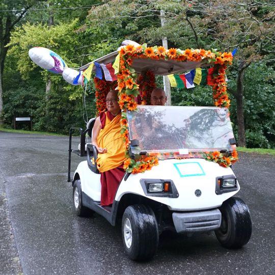 Ven Roger Driving Lama Zopa Rinpoche