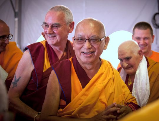 lama zopa entering teaching
