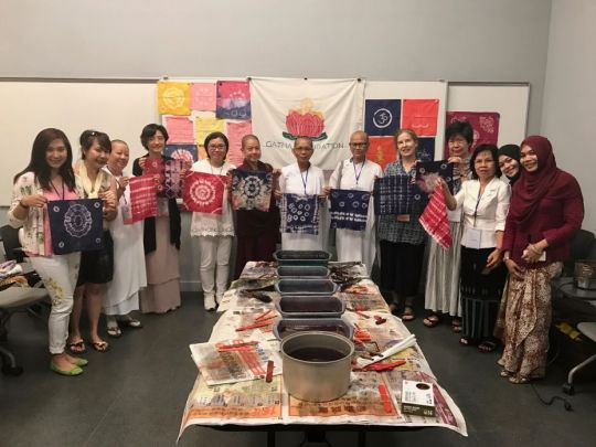 Batik Making Workshop at the Sakyadhita International Conference in Hong Kong.