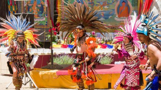 Sun Family Meixca Dance - Medicine Buddha Festival in Soquel, California, US, July 2017. Photo courtesy of Denice Macy.