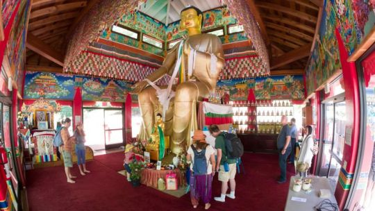 Wish Fulfilling Temple, Land of Medicine Buddha, Soquel, California, US, July 2017. Photo courtesy of Denice Macy.