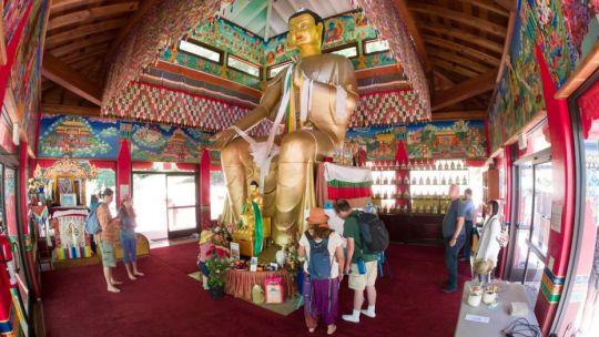 Wish Fulfilling Temple, Land of Medicine Buddha, Soquel, California, US, July 2017. Photo courtesy of Denice Macy.