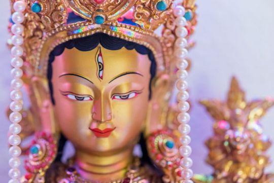 Tara statue at Buddha Amitabha Pure Land, Washington State, US, June 2015. Photo by Chris Majors.