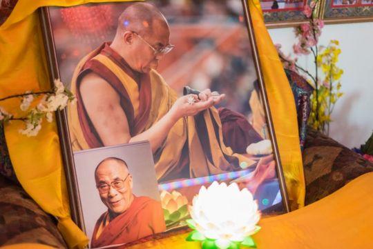 Photographs of His Holiness the Dalai Lama at Buddha Amitabha Pure Land, Washington State, US, June 2015. Photo by Chris Majors.