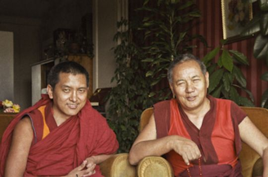 Lama Zopa Rinpoche and Lama Yeshe, 1983