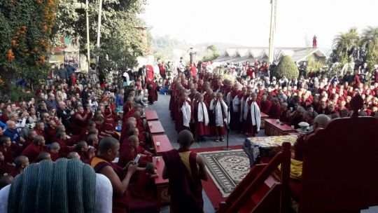 young monks singing
