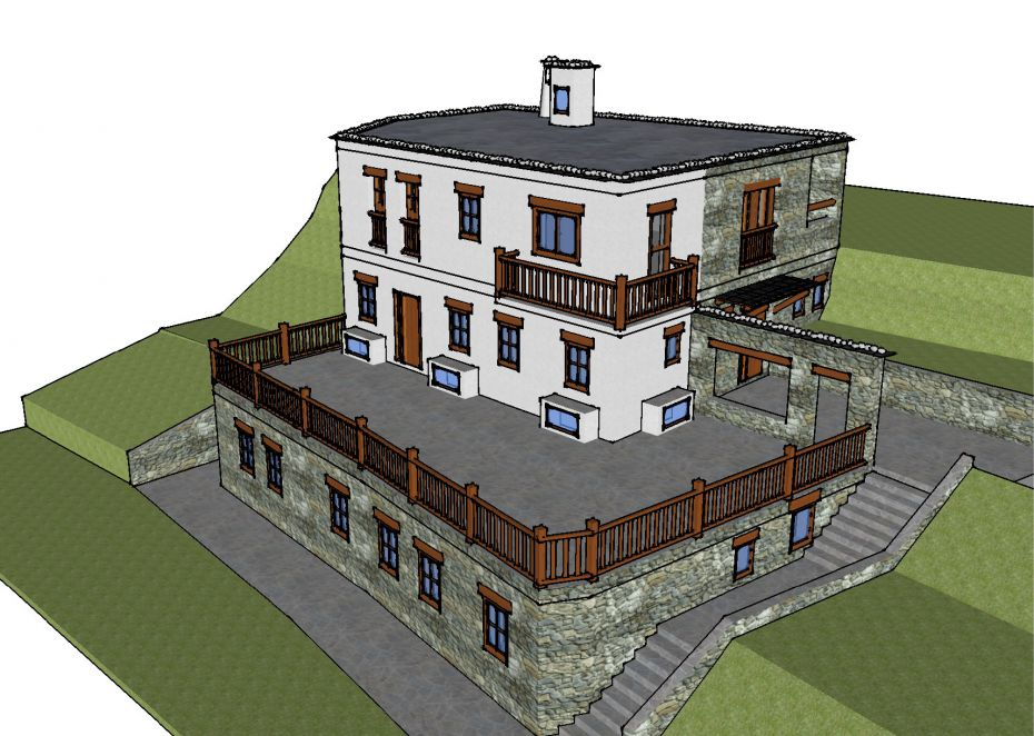 Architect's drawing of the proposed nunnery at Oseling. Image courtesy of Oseling Retreat Center.