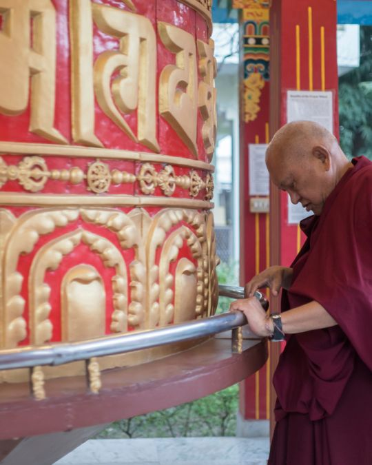 Lama-Zopa-Rinopche-Root-Institute-Prayer-Wheel-Jan-2018