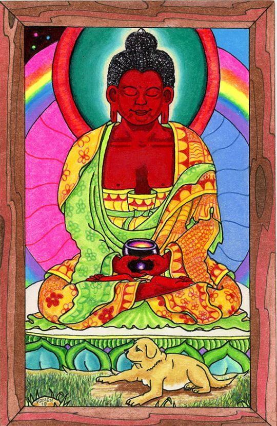 """Happy Losar"" card by Raven Jones, 2018"