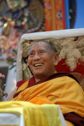 Geshe Lhundrub Sopa, Maitripa College, Portland, Oregon, US, 2009. Photo by Marc Sakamoto.