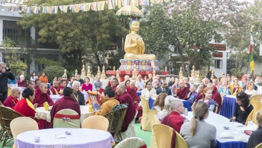 Root Institute thirtieth anniversary celebration, Bodhgaya, India, January 2018. Photo by Ven. Lobsang Sherab.