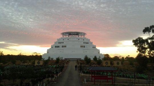 The Great Stupa of Universal Compassion, Bendigo, Victoria, Australia, October 2014. Photo by Tom Kennedy