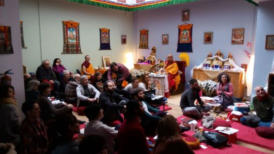 Centro La Sabiduría de Nagarjuna has a new center, Bilbao, Spain, February 2017. Photo by Centro La Sabiduría de Nagarjuna community.