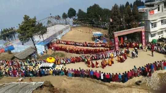 procession lama zopa arrival taplejung nepal 2018