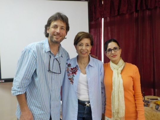 Foundation Service Seminar facilitators François Lecointre, Gilda Urbina, and Mar Portillo in Guadalajara, Mexico, February 2018. Photo courtesy of Gilda Urbina.